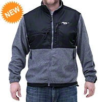 Ford Mustang Microfleece Jacket - Gray - AM Accessories 22910