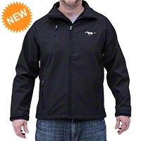 Ford Mustang Soft Shell Jacket - Black - AM Accessories 22911