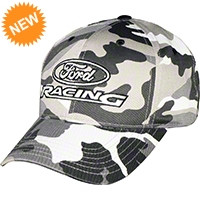 Ford Racing Logo Hat - Black and White Camo - AM Accessories 84794