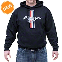 Mustang Tribar Hoodie - Black - AM Accessories 100104