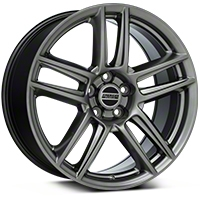 Laguna Seca Style Hyper Black Wheel - 19x9 (05-14 All) - American Muscle Wheels 100105