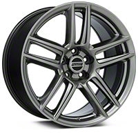 Laguna Seca Style Hyper Black Wheel - 19x10 (05-14 All) - American Muscle Wheels 100106