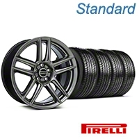 Laguna Seca Style Hyper Black Wheel & Pirelli Tire Kit - 19x9 (05-14 All) - American Muscle Wheels KIT||100105||63101