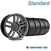 Laguna Seca Style Hyper Black Wheel & Sumitomo Tire Kit - 19x9 (05-14 All) - American Muscle Wheels KIT||100105||63036