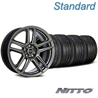 Laguna Seca Style Hyper Black Wheel & NITTO INVO Tire Kit - 19x9 (05-14 All) - American Muscle Wheels KIT||100105||79521