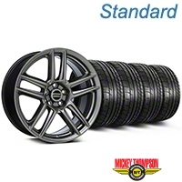 Laguna Seca Style Hyper Black Wheel & Mickey Thompson Tire Kit - 19x9 (05-14 All) - American Muscle Wheels KIT||100105||79539