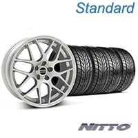 AMR Silver Wheel & NITTO Tire Kit - 18x8 (99-04 All) - American Muscle Wheels 100122