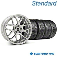 AMR Silver Wheel & Sumitomo Tire Kit - 18x8 (99-04 All) - American Muscle Wheels 100123
