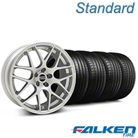 AMR Silver Wheel & Falken Tire Kit - 20x9 (05-14 All) - American Muscle Wheels KIT||38677||79573