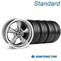 Bullitt Anthracite Wheel & Sumitomo All Season Tire Kit - 17x9 (87-93 5 Lug Conversion) - American Muscle Wheels KIT||28319