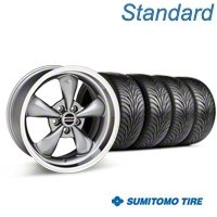 Bullitt Anthracite Wheel & Sumitomo Tire Kit - 17x9 (87-93 5 Lug Conversion) - American Muscle Wheels KIT||28319
