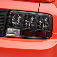 Black LED Tail Lights (05-09 All) - AM Lights 100147