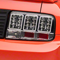 Chome LED Tail Lights (05-09 All) - AM Lights 100148
