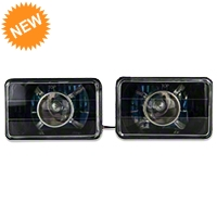 Black Projector Headlight - Pair (79-86) - AM Lights 100149