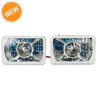 Chrome Projector Headlight - Pair (79-86) - AM Lights 100150