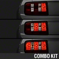 Raxiom Smoked Coyote Tail Lights and Sequential Combo (05-09 All) - Raxiom 100176
