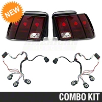 Raxiom Smoked Tail Lights and Sequential Combo (99-04 All; Excludes 99-01 Cobra) - Raxiom 100178