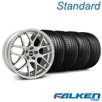 AMR Silver Wheel & Falken Tire Kit - 18x9 (05-14 All, Excludes 13-14 GT500) - American Muscle Wheels KIT||38675||79569