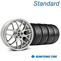 AMR Silver Wheel & Sumitomo Tire Kit - 20x8.5 (05-14 All) - American Muscle Wheels KIT||38677||63024