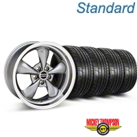 Bullitt Anthracite Wheel & Mickey Thompson Tire Kit - 17x9 (87-93 5 Lug Conversion) - American Muscle Wheels KIT||28319