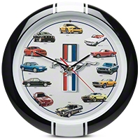 History of Mustang Clock 13 in. w/ Sound - AM Accessories 100189
