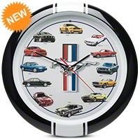 History of Mustang Clock w/ Sound - AM Accessories 100189