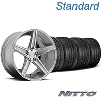 Niche Apex Machined Silver Wheel & NITTO INVO Tire Kit - 20x8.5 (05-14 All) - Niche KIT||100195||79524