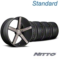 Niche Milan Matte Black Machined Wheel & NITTO INVO Tire Kit - 20x8.5 (05-14 All) - Niche KIT||100211||79524