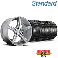 Niche Apex Machined Silver Wheel & Mickey Thompson Tire Kit - 20x8.5 (05-14 All) - Niche KIT||100195||79541