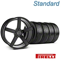 MMD 551C Black Wheel & Pirelli Tire Kit - 19x8.5 (05-14 All) - MMD 100277