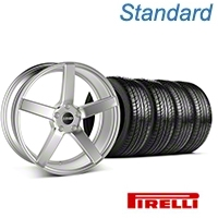 MMD 551C Silver Wheel & Pirelli Tire Kit - 19x8.5 (05-14 All) - MMD 100278