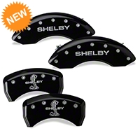 MGP Black Caliper Covers w/ Shelby Snake Logo - Rear Only (07-14 GT500) - MGP 10198-S-SBY-BK