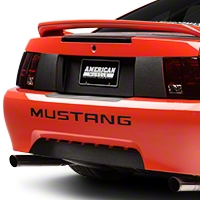 Brushed Black Rear Deck Lid Blackout Decal (99-04 All) - American Muscle Graphics 100347