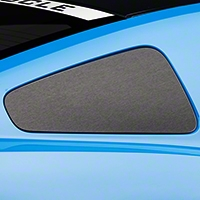 Brushed Black Quarter Window Blackout (10-14 All) - American Muscle Graphics 100348