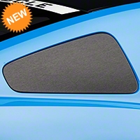 Brushed Black Quarter Window Blackout (10-14 All) - American Muscle Graphics 26367