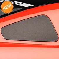 Brushed Black Quarter Window Blackout (05-09 All) - American Muscle Graphics 26368