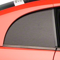 Brushed Black Quarter Window Blackout (99-04 GT, V6 & Cobra) - American Muscle Graphics 100350