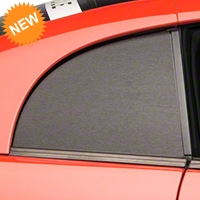 Brushed Black Quarter Window Blackout (99-04 GT, V6 & Cobra) - American Muscle Graphics 26369