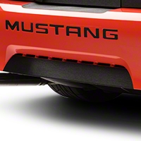 Brushed Black Lower Rear Valance Accent (99-04 GT, V6, Mach 1; 99 Cobra) - American Muscle Graphics 100354