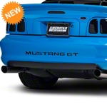 Brushed Black Lower Rear Valance Decal (94-98 GT, V6, Cobra) - American Muscle Graphics 26374