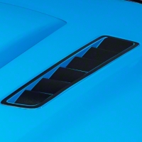 Hood Vent Accent Decal - Brushed Black (13-14 All) - American Muscle Graphics 100356