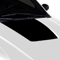 Black Hood Decal (99-01 Cobra; 03-04 V6) - American Muscle Graphics 100359