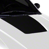Matte Black Hood Decal (99-01 Cobra; 03-04 V6) - American Muscle Graphics 100360