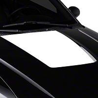 White Hood Decal (99-01 Cobra; 03-04 V6) - American Muscle Graphics 26378