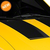 Matte Black Hood Decals (03-04 Cobra) - American Muscle Graphics 100364