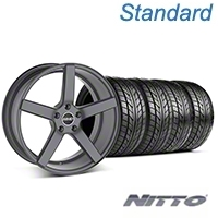 MMD 551C Charcoal Wheel & NITTO Tire Kit - 20x8.5 (05-14 All) - MMD KIT||100259||76005