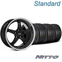 MMD Kage Black Wheel & NITTO INVO Tire Kit - 18x9 (05-14 V6; 05-10 GT) - MMD KIT||100265||79522