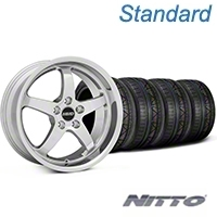 MMD Kage Polished Wheel & NITTO INVO Tire Kit - 18x9 (05-14 V6; 05-10 GT) - MMD KIT||100267||79522
