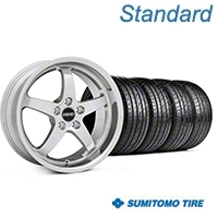 MMD Kage Polished Wheel & Sumitomo Tire Kit - 18x9 (05-14 V6; 05-10 GT) - MMD KIT||100267||63008