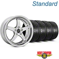 MMD Kage Polished Wheel & Mickey Thompson Tire Kit - 18x9 (05-14 V6; 05-10 GT) - MMD KIT||100267||79537